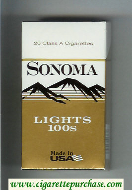 Discount Sonoma Lights 100s cigarettes hard box