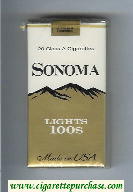 Discount Sonoma Lights 100s cigarettes soft box