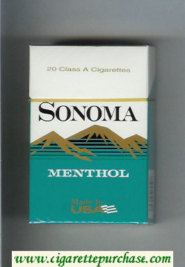 Discount Sonoma Menthol cigarettes hard box