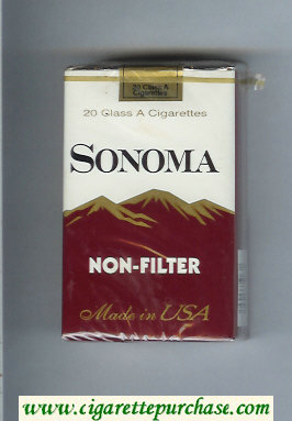 Discount Sonoma Non-Filter cigarettes soft box