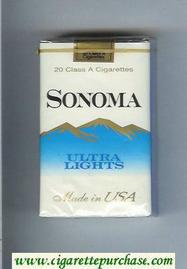 Discount Sonoma Ultra Lights cigarettes soft box