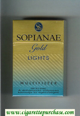 Sopianae Gold Lights Multifilter cigarettes hard box