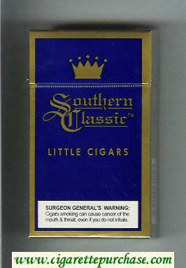 Southern Classic Little Cigars 100s cigarettes Lights hard box