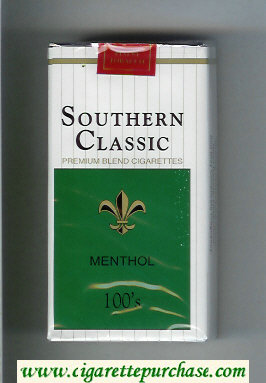 Southern Classic Menthol 100s cigarettes soft box