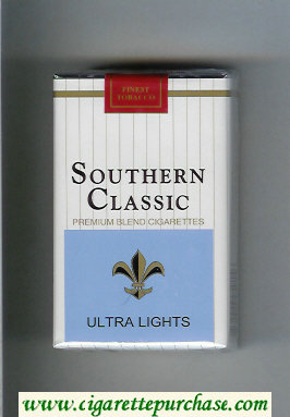 Southern Classic Ultra Lights cigarettes soft box