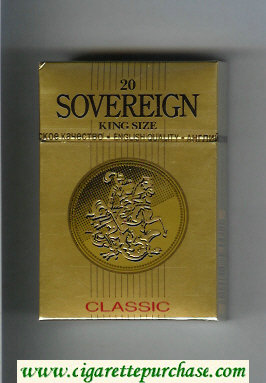 Sovereign Classic cigarettes gold hard box