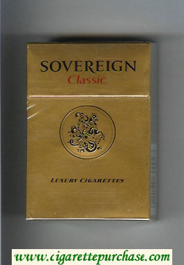 Sovereign Classic gold cigarettes hard box