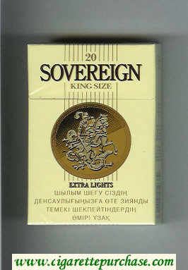 Sovereign Extra Lights cigarettes yellow hard box