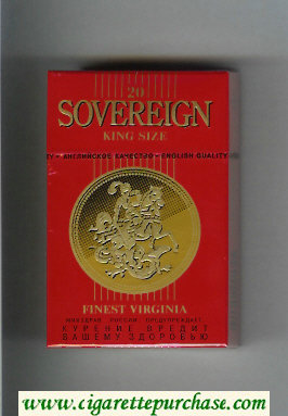 Sovereign Finest Virginia King Size cigarettes red hard box