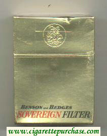 Sovereign Benson and Hedges cigarettes hard box