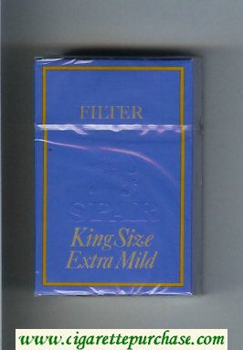 Spar Extra Mild cigarettes hard box