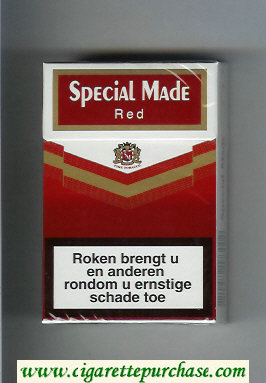 Special Made Red cigarettes hard box