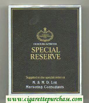 Special Reserve 100s cigarettes wide flat hard box