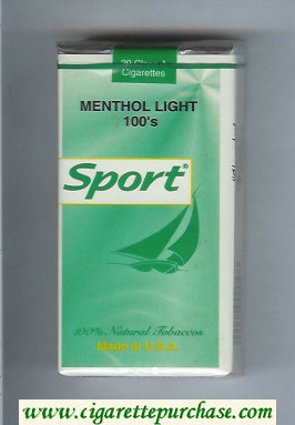 Sport Menthol Light 100s cigarettes soft box
