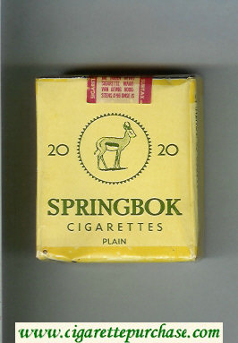 Springbok Plain cigarettes soft box