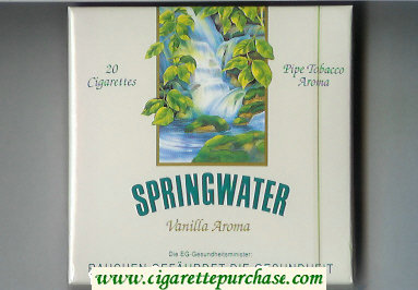 Springwater cigarettes wide flat hard box