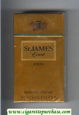 St.James Court Menthol 100s cigarettes hard box