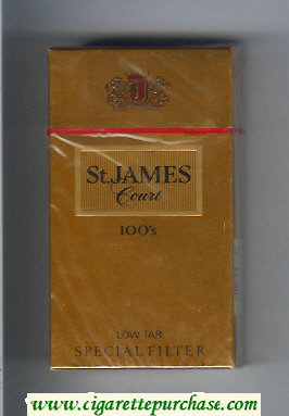 St.James Court 100s cigarettes hard box
