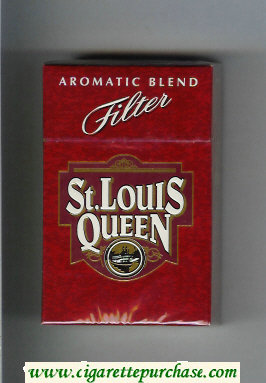 St.Louis Queen Aromatic Blend Filter cigarettes hard box