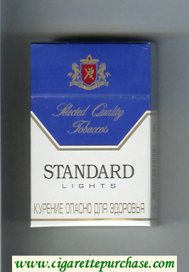Standard Lights Selected Quality Tobaccos Cigarettes hard box