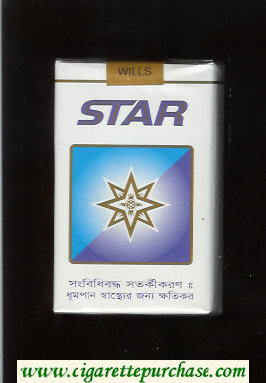 Star Cigarettes white and blue soft box