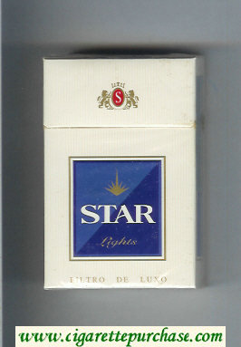 Star Lights Cigarettes hard box