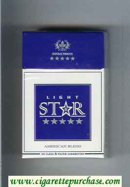 Star Light American Blend Cigarettes hard box