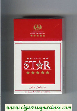 Star Georgian Full Flavour Cigarettes hard box