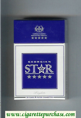 Star Georgian Lights Cigarettes hard box