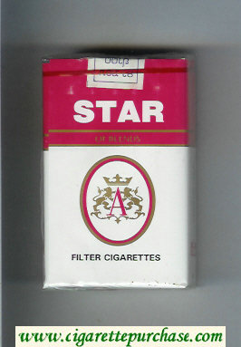 Star of BlendS Filter Cigarettes soft box