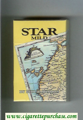 Star Mild By Philip Morris Cigarettes hard box