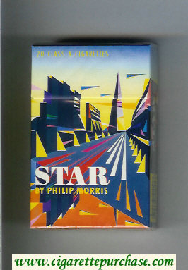 Star By Philip Morris Cigarettes hard box