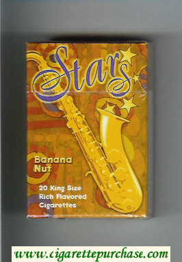 Stars Banana Nut Cigarettes hard box