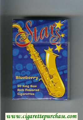 Stars Blueberry Cigarettes hard box