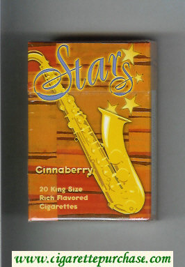 Stars Cinnaberry Cigarettes hard box