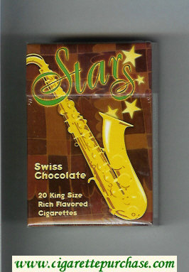 Stars Swiss Chocolate Cigarettes hard box