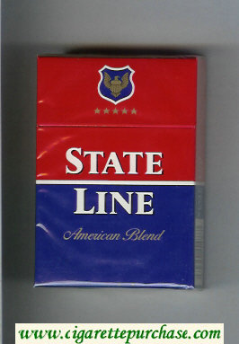 State Line American Blend cigarettes hard box