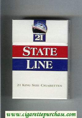 State Line 21 King Size cigarettes hard box