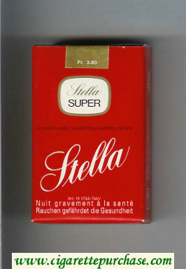 Stella Super cigarettes soft box