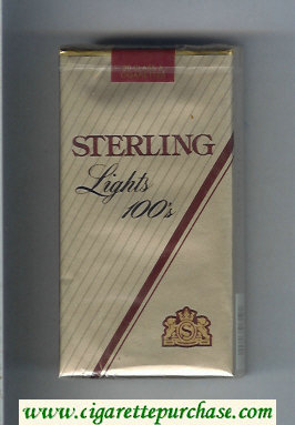 Sterling Lights 100s cigarettes soft box