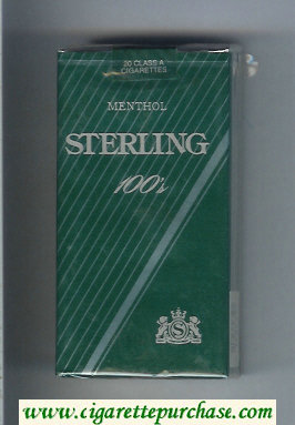 Sterling Menthol 100s cigarettes soft box