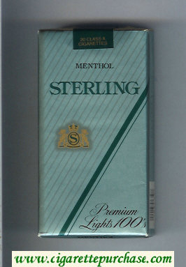 Sterling Premium Lights 100s Menthol cigarettes soft box
