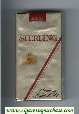 Sterling Premium Lights 100s cigarettes soft box