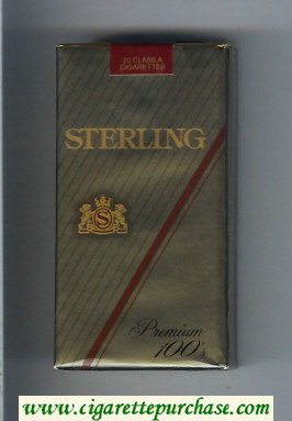 Sterling Premium 100s cigarettes soft box