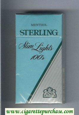 Sterling Slim Lights 100s Menthol cigarettes hard box