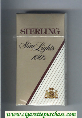 Sterling Slim Lights 100s cigarettes hard box