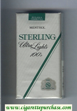 Sterling Ultra Lights 100s Menthol cigarettes soft box