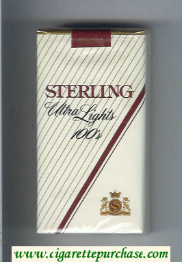 Sterling Ultra Lights 100s cigarettes soft box