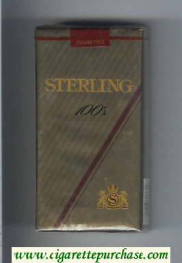 Sterling 100s cigarettes soft box