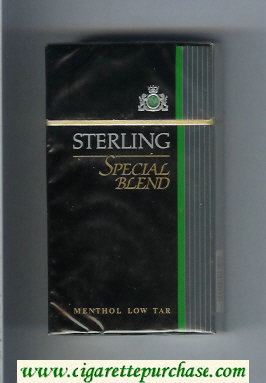 Sterling Special Blend Menthol 100s cigarettes hard box